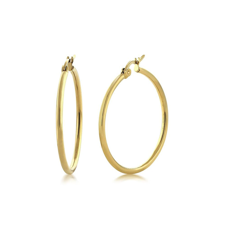 Medium Yellow Gold Hoops