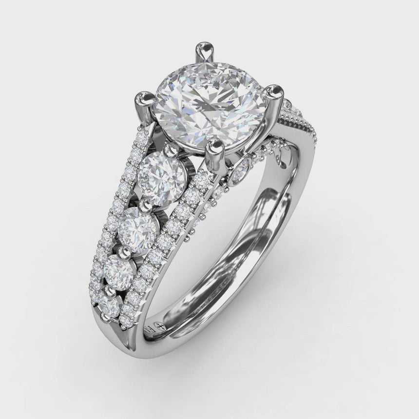 Gorgeous Couture Engagement Ring 3396
