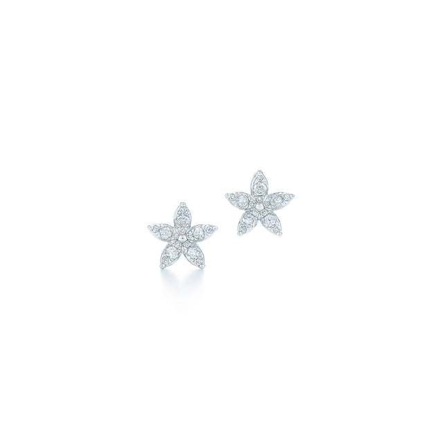 Sunburst Star Earrings with Diamonds
