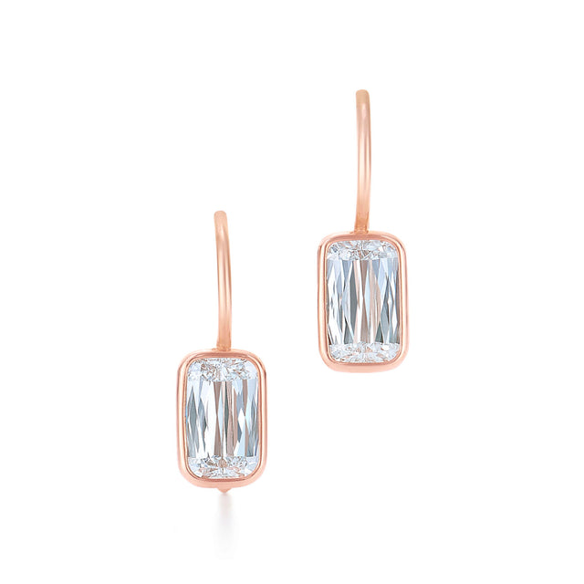 Ashoka Diamond Drop Earrings in 18k Rose Gold