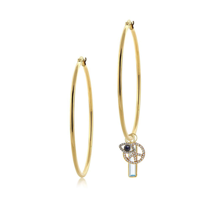 Large Yellow Gold Hoops
