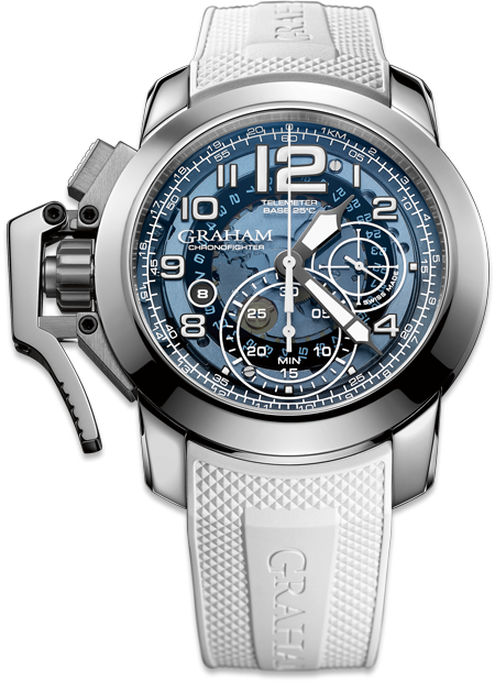 Chronofighter Target Blue watch with automatic chronograph telemeter - limited edition of 100 pieces