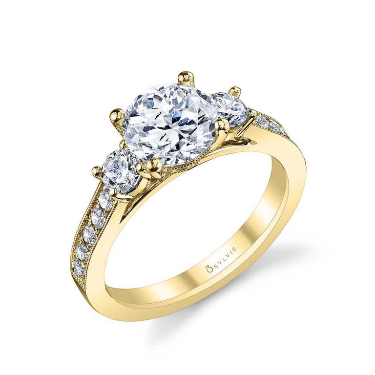 Three Stone Engagement Ring S1083 - Chalmers Jewelers