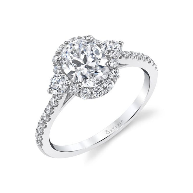 3 STONE OVAL ENGAGEMENT RING - NINA