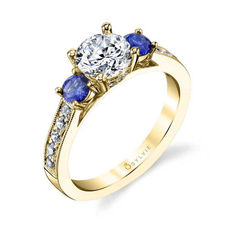 Three Stone Sapphire Engagement Ring S4111 - Chalmers Jewelers