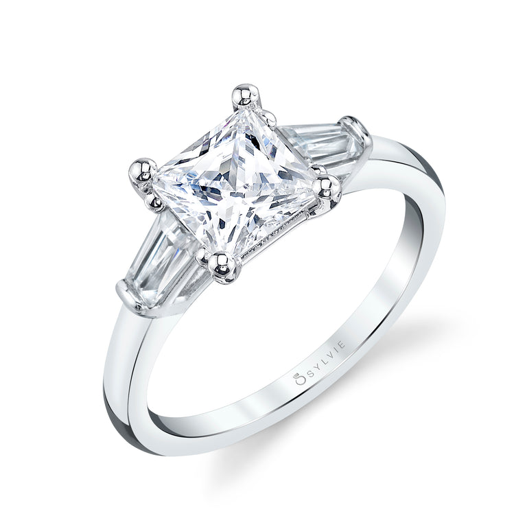 Three Stone Princess Engagement Ring S3012 - PR - Chalmers Jewelers
