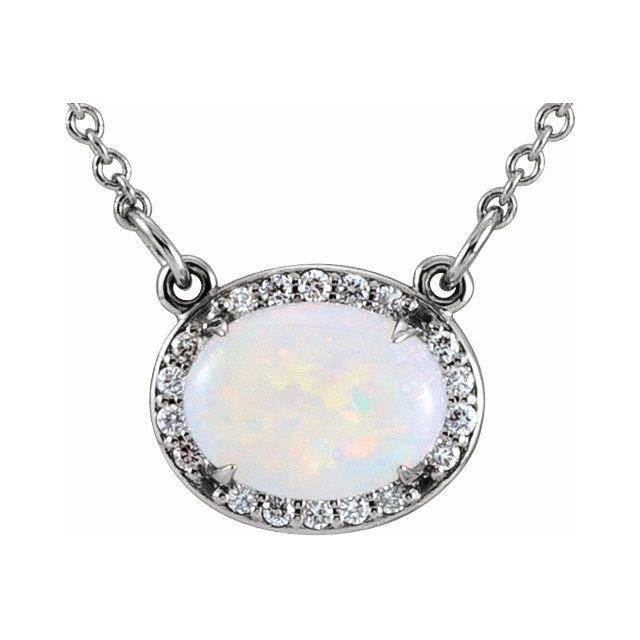 Opal 14kt Necklace