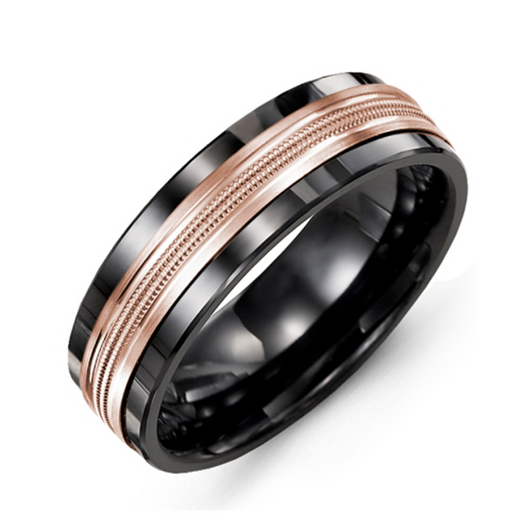 Double Milgrain Wedding Band