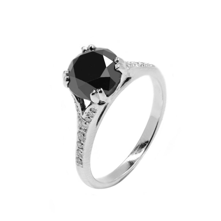 Black Diamond Engagement Ring - Chalmers Jewelers