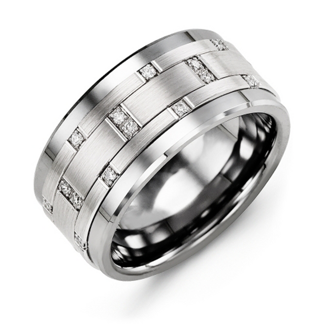 Scattered Diamond Wedding Band