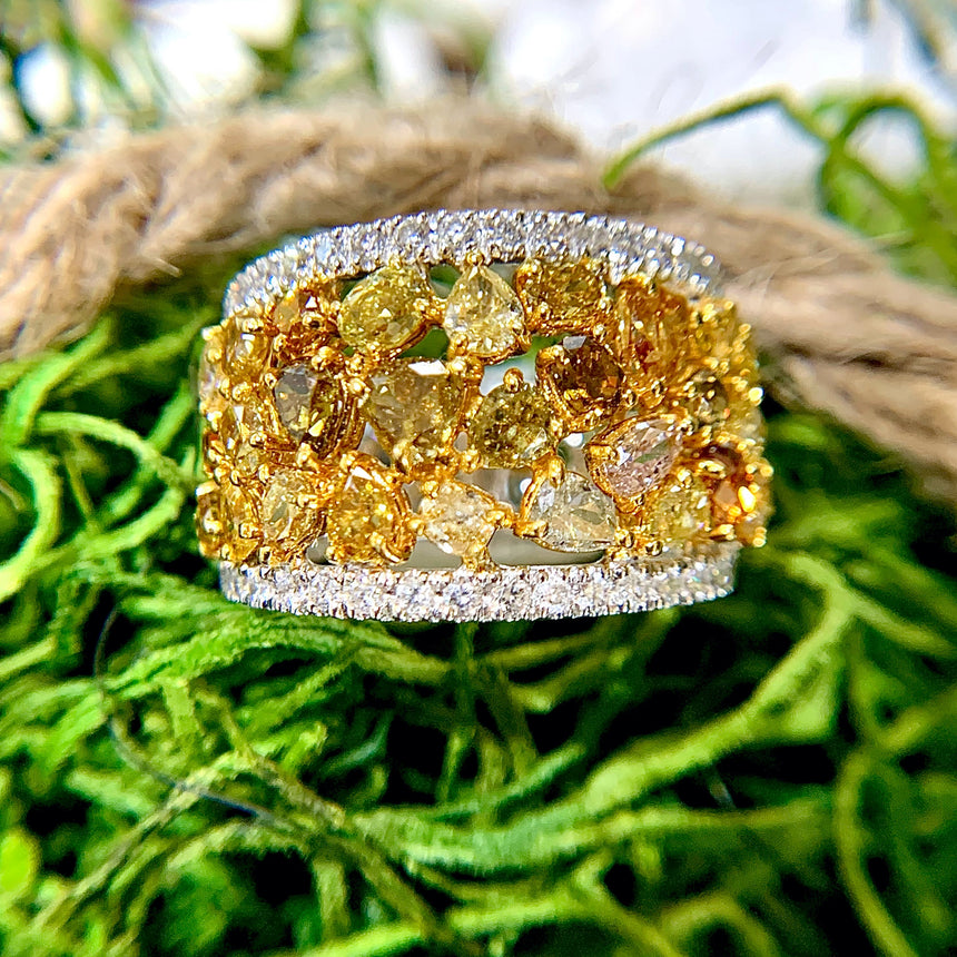 18k Couture Fancy Color Diamond RIng