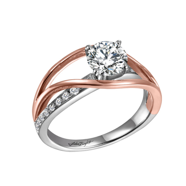 Two-Tone Bypass Engagement Ring - Chalmers Jewelers