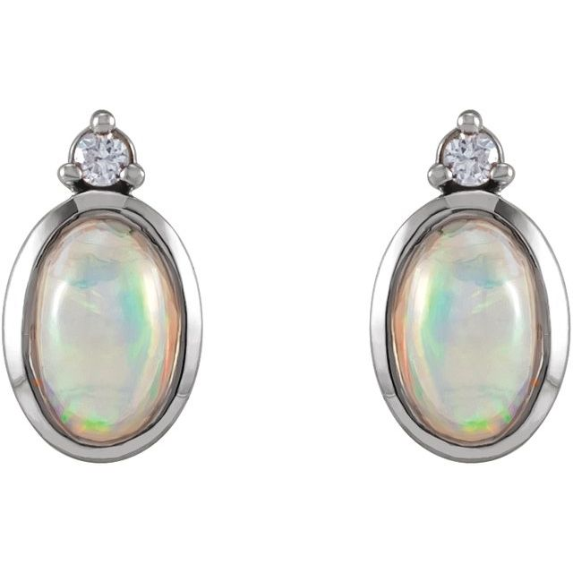 Opal 14kt Earrings