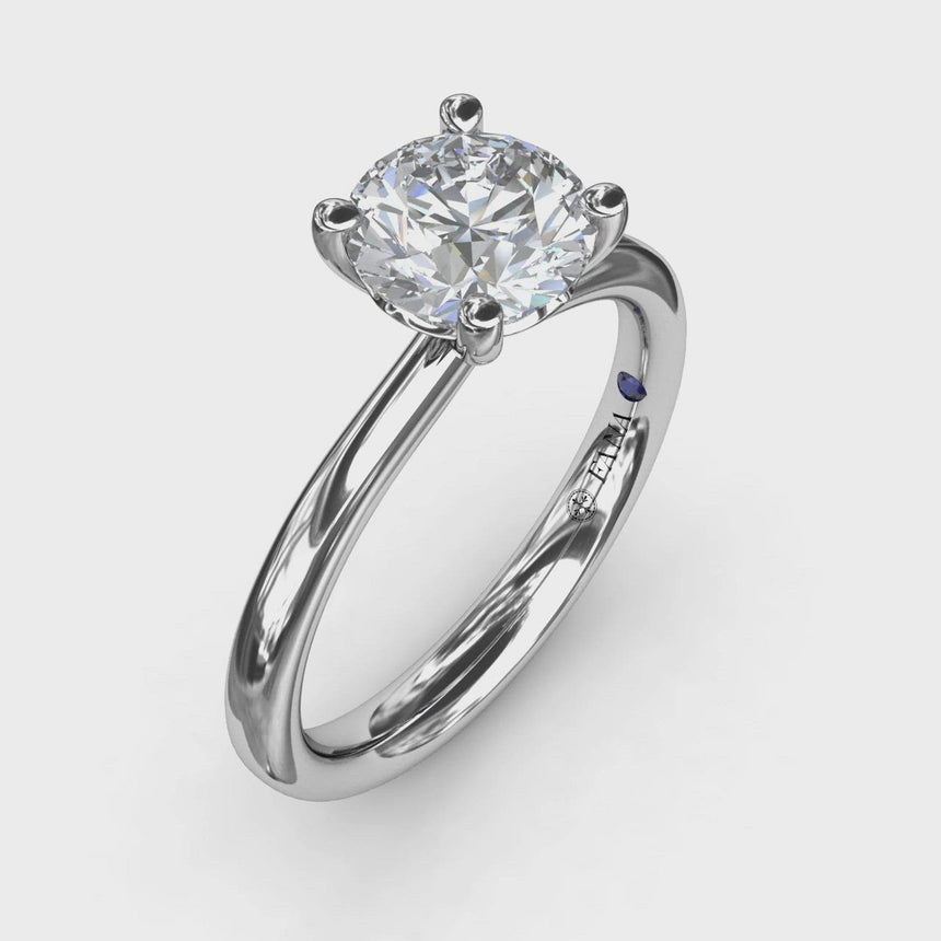 Timeless Round Cut Solitaire Engagement Ring 3933