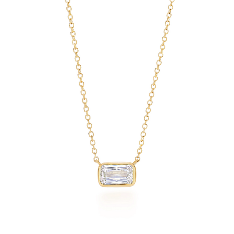 Ashoka diamond pendant in 18k yellow gold