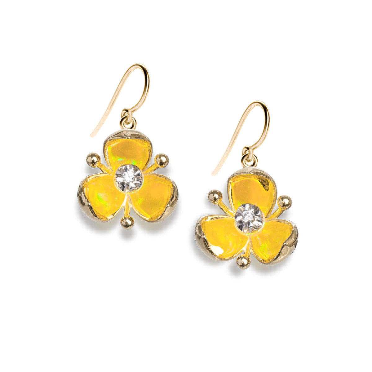 Illusia Diamond Earrings - Summer Yellow