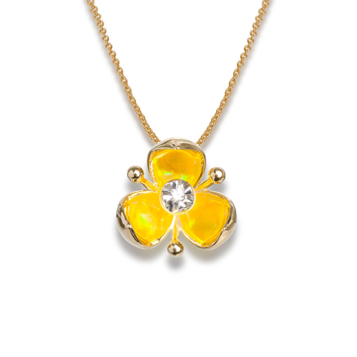 Illusia Diamond Pendant - Summer Yellow