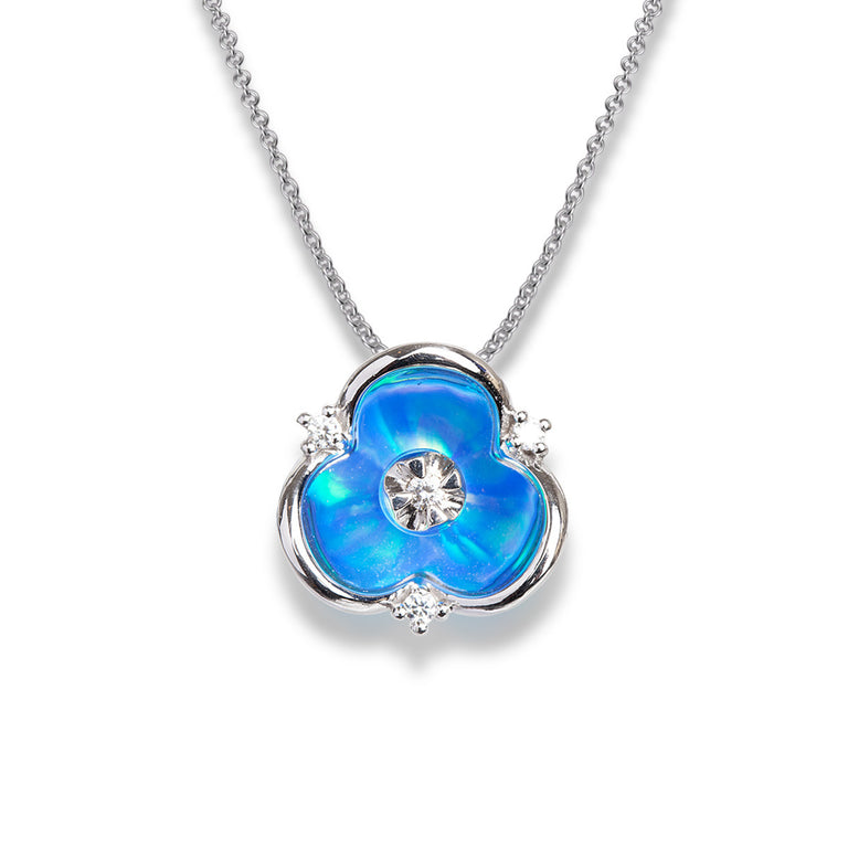 Illusia Diamond Pendant - Sky Blue - Chalmers Jewelers