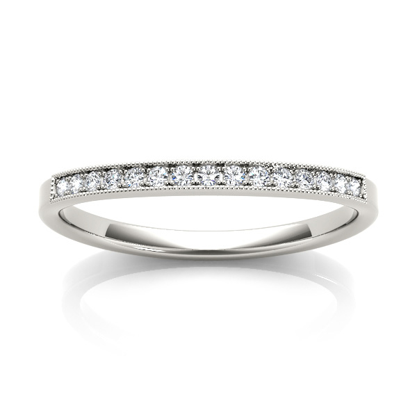 14kt diamond band with 1/10 ctw metal options available Chalmers Jewelers