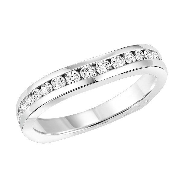 18kt diamond band with 1/2 ctw Chalmers Jewelers