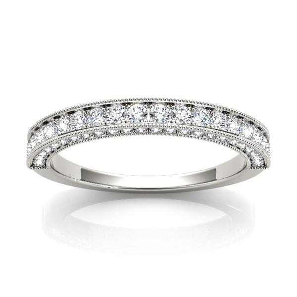 14kt diamond band with 1/2 ctw - top view