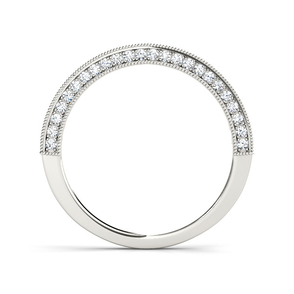 14kt diamond band with 1/2 ctw - side view