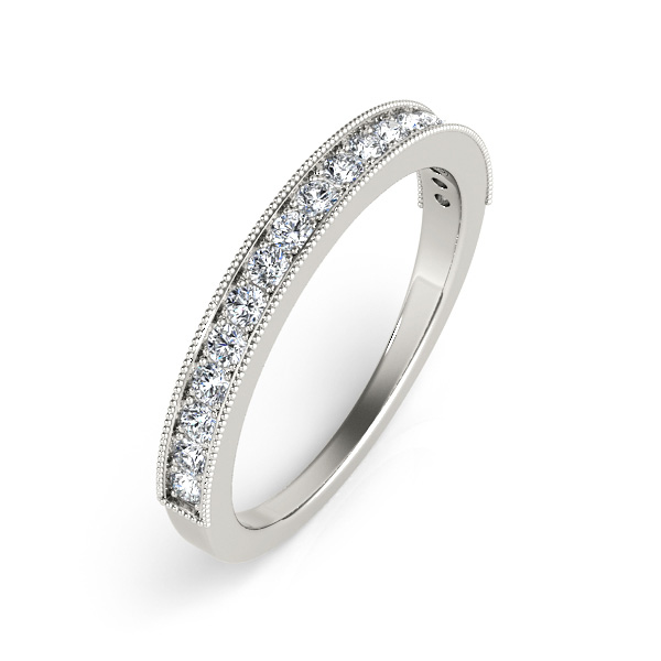 14kt diamond band with 1/2 ctw - cross view
