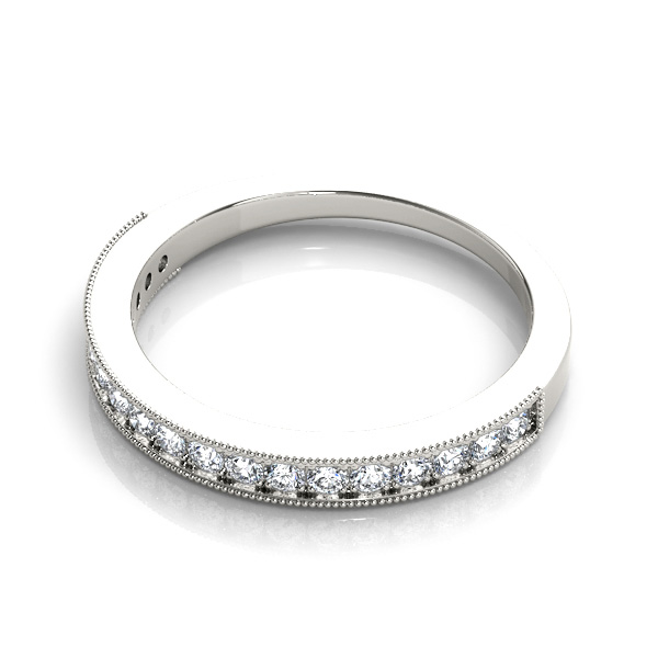14kt diamond band with 1/2 ctw - flat view
