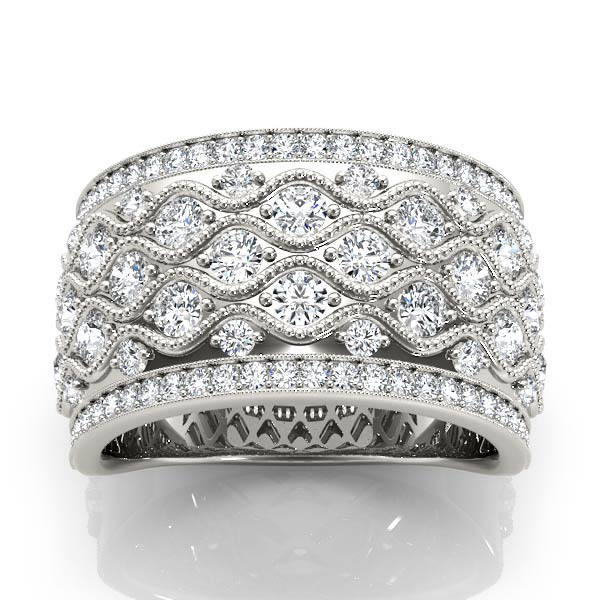 14kt diamond band with 1/3 ctw - top view