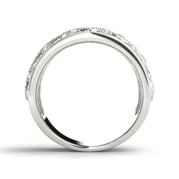 14kt diamond band with 1/3 ctw - side view