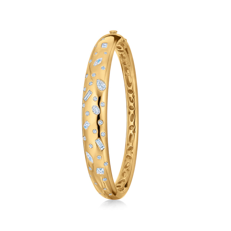 Cobblestone Bangle with Diamond Accents