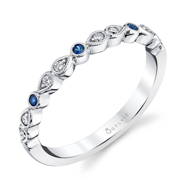 Blue Sapphire Diamond Band B0033-BS - Chalmers Jewelers