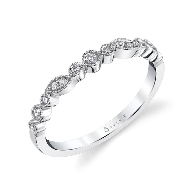 Sylvie Vintage Stackable Band - B0078 - Chalmers Jewelers