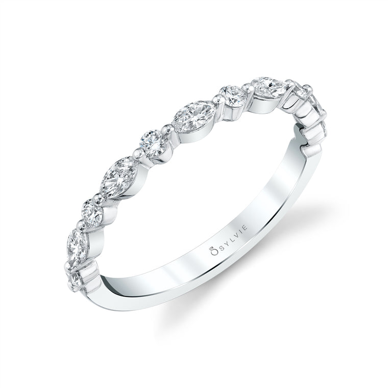 Sylvie Stackable Wedding Band B1P11-MQ-50 - Chalmers Jewelers