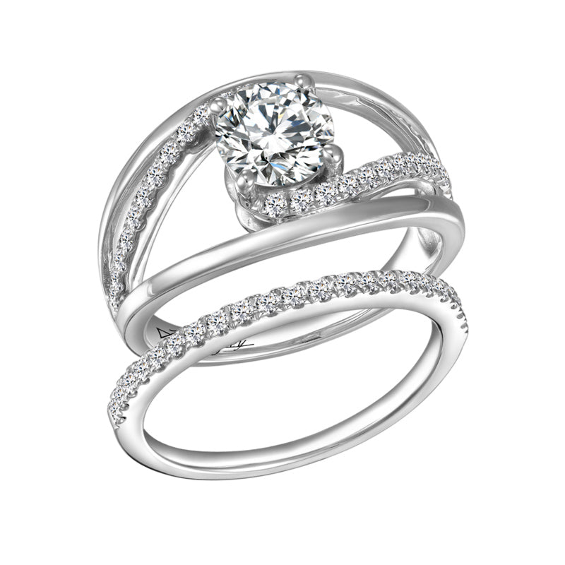 John Bagley Signature Diamond Engagement Ring #266832 - Chalmers Jewelers