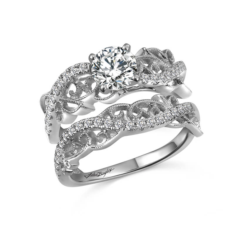 Classic Diamond Engagement Ring With Milgrain Details #285312 - Chalmers Jewelers
