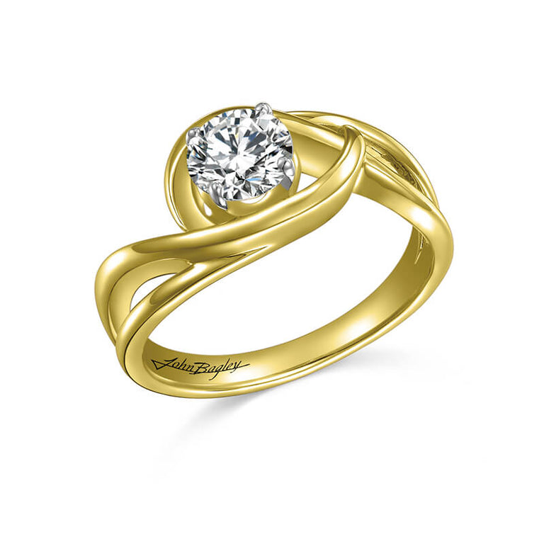 John Bagley Solitaire Engagement Ring #285319 - Chalmers Jewelers