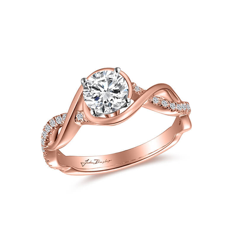 John Bagley Classic Engagement Ring With Twisting Band #295529 - Chalmers Jewelers