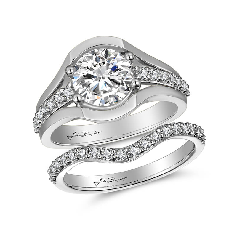 John Bagley Classic Diamond Engagement Ring #301597 - Chalmers Jewelers