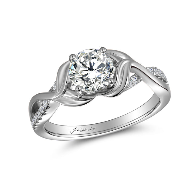 John Bagley Classic Twisted Diamond Engagement Ring #316373 - Chalmers Jewelers
