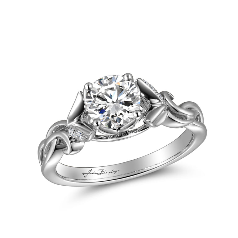 Signature John Bagley Leaves Engagement Ring #316377 - Chalmers Jewelers