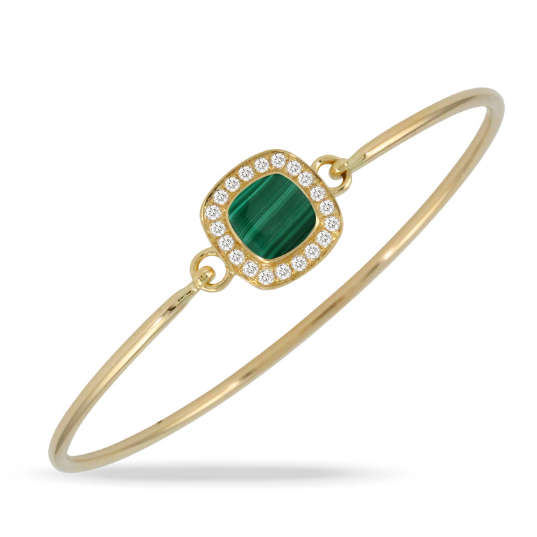 Malachite and Diamond Bangle - Chalmers Jewelers