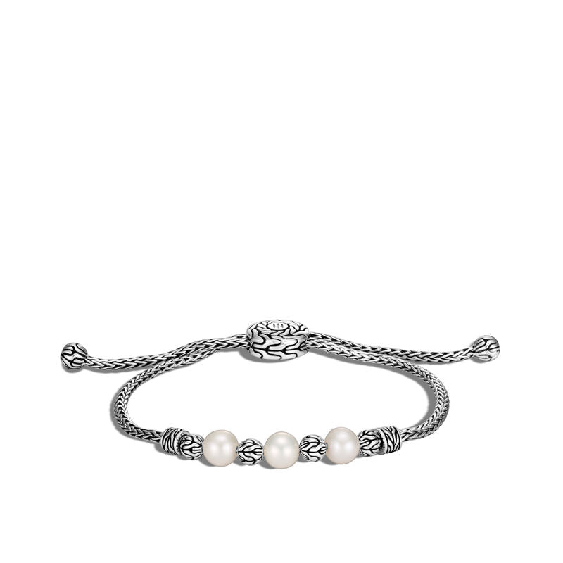 Classic Chain Pull Through Bracelet with Freshwater Pearl - Chalmers Jewelers