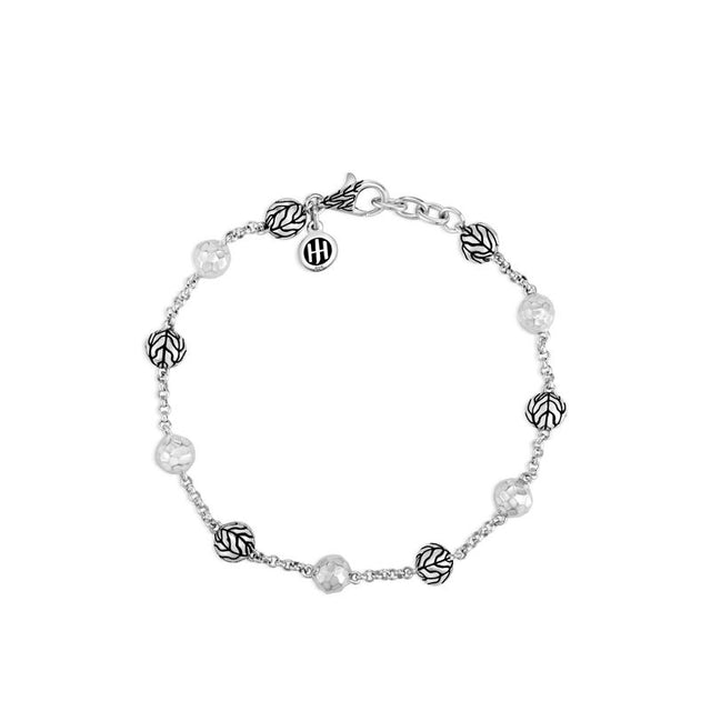 Classic Chain Hammered Bead Bracelet - Chalmers Jewelers