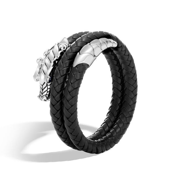Naga Double Coil Bracelet with Leather - Chalmers Jewelers