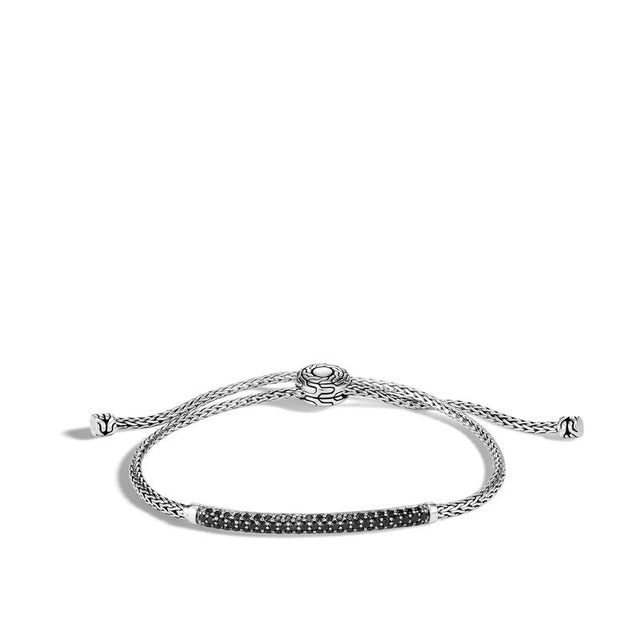 lassic Chain Pull Through Bracelet with Black Spinel - Chalmers Jewelers