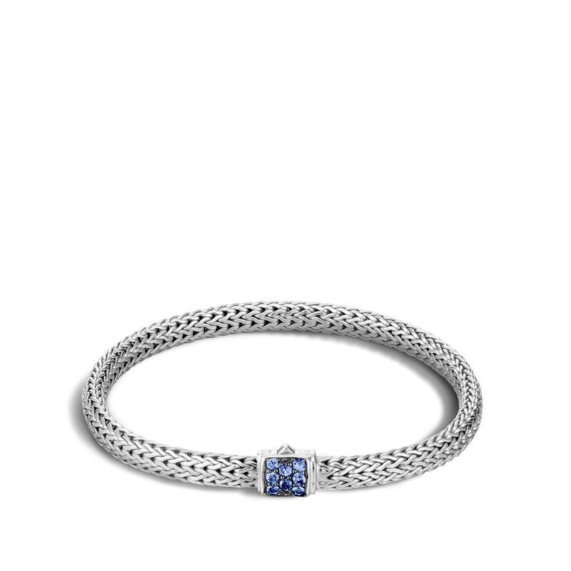 Classic Chain Bracelet with Blue Sapphire - Chalmers Jewelers