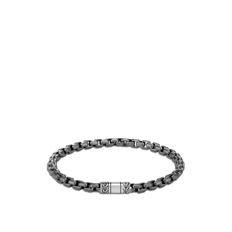 Blackened Box Chain Bracelet - Chalmers Jewelers