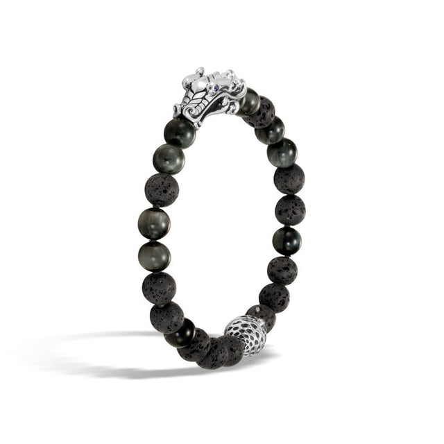 Naga Bead Bracelet with Eagle Eye and Black Volcanic - Chalmers Jewelers