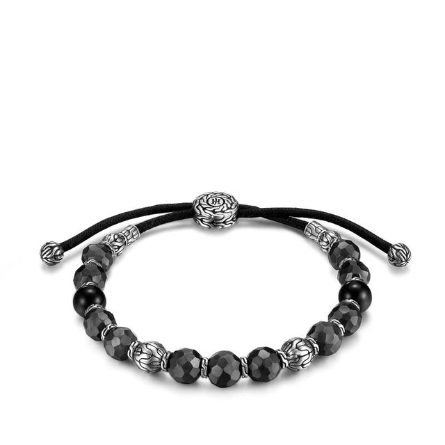 Classic Chain Pull Through Bracelet with Black Tourmaline - Chalmers Jewelers